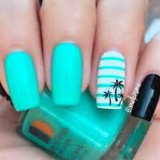 bold tropical nails
