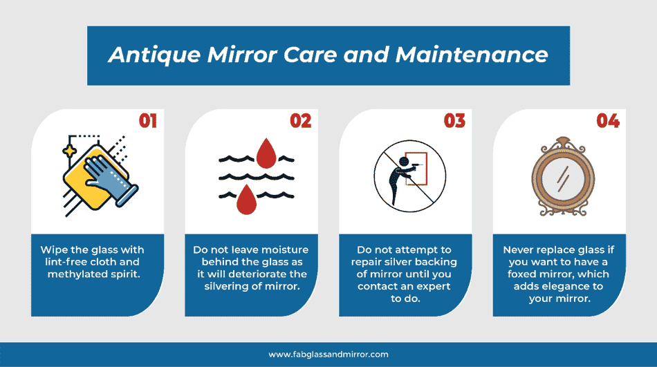 Antique mirror care and mantenance