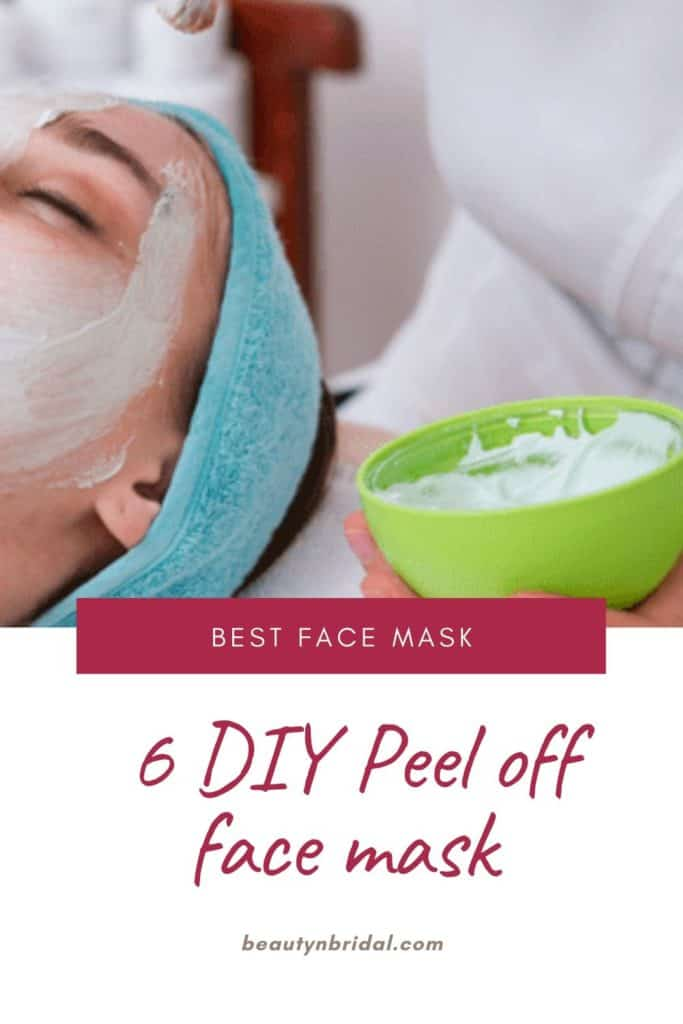 DIY Peel off face mask for facial with or without gelatin, glue, charcoal
